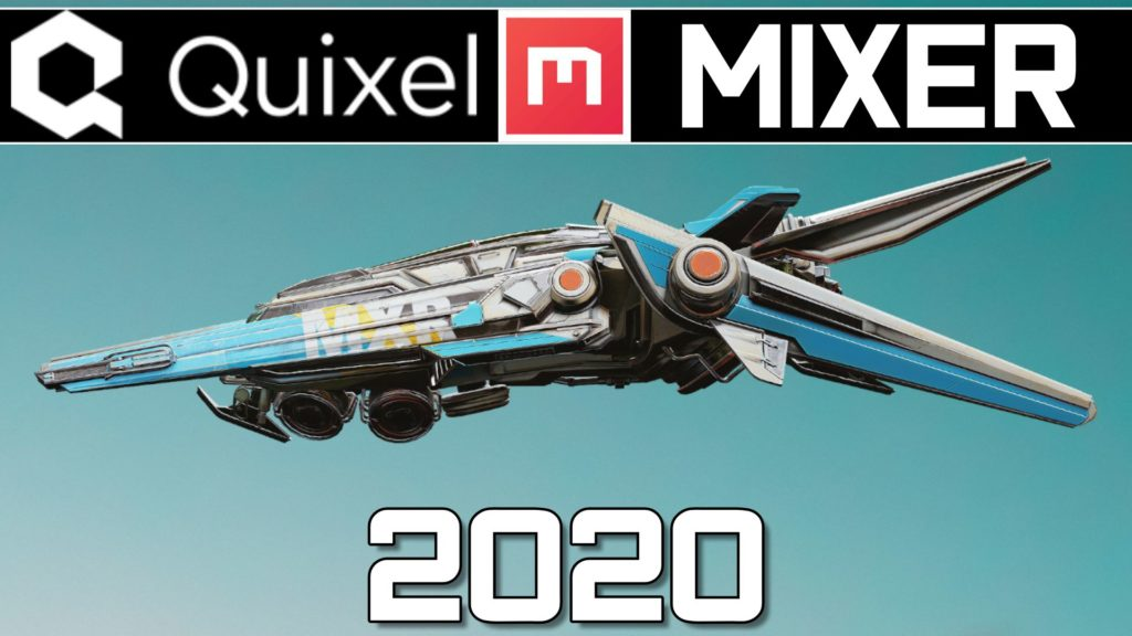 Quixel Mixer 2020 Tutorial Banner with a Plane