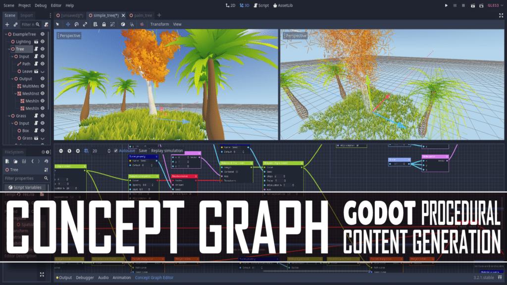 Godot Concept Graph Procedural Graphics