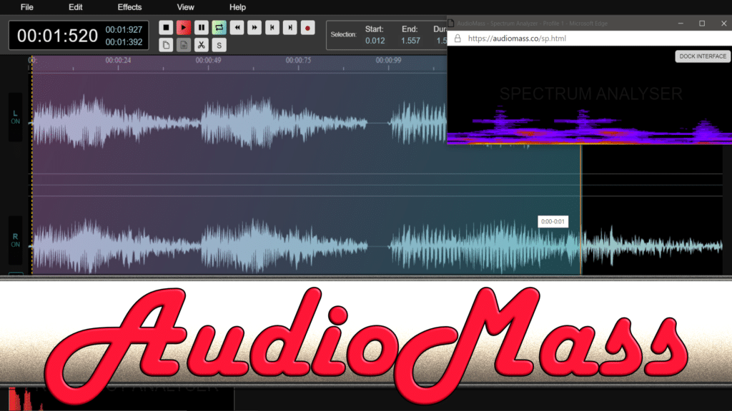 AudioMass Web Based Audio Editor
