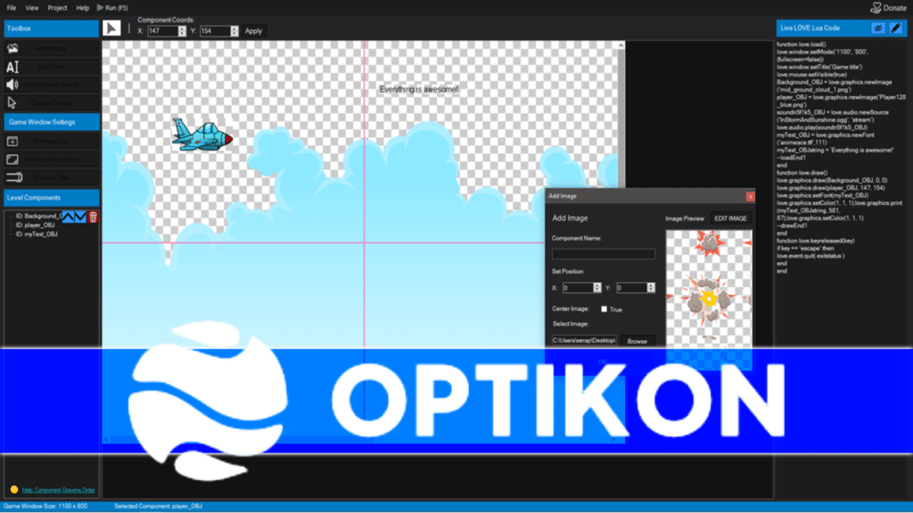 Optikon Lua/Love Level Editor