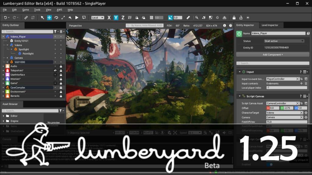 Lumberyard 1.25 Game Engine Released