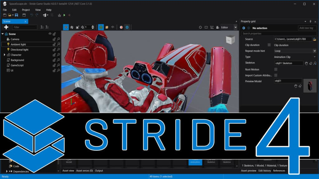 Stride 4 Game Engine Released