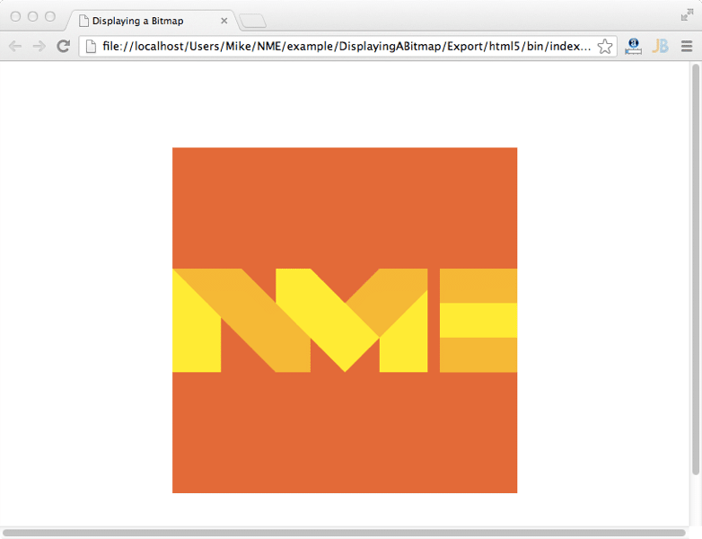 NME running as HTML5