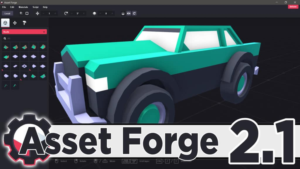 Asset Forge 3D kitbashing application version 2.1 released