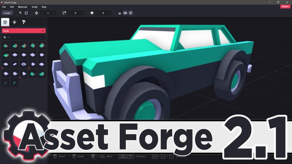Asset Forge 3D kitbashing application version 2.1 released