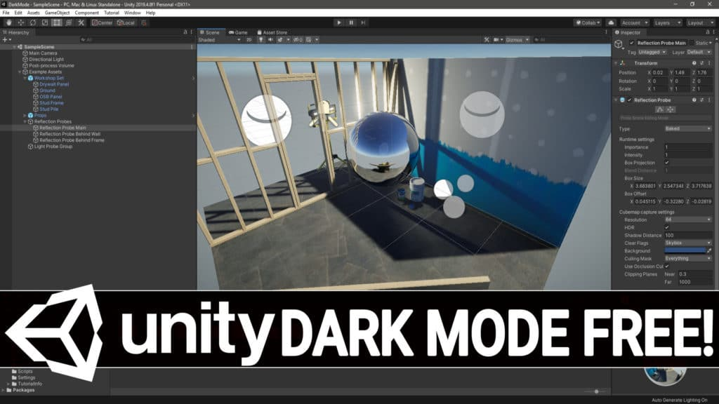 Unity Dark Mode or Professional Theme is now free