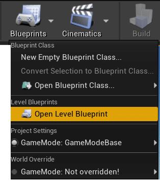 Blueprints open level blueprint