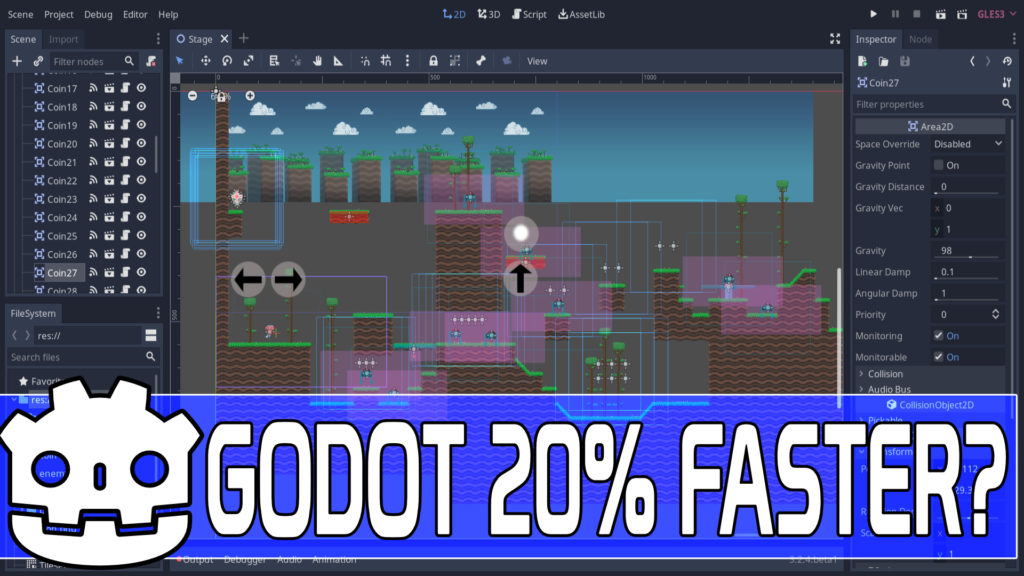 Godot 3.2.4 released with sprite batching