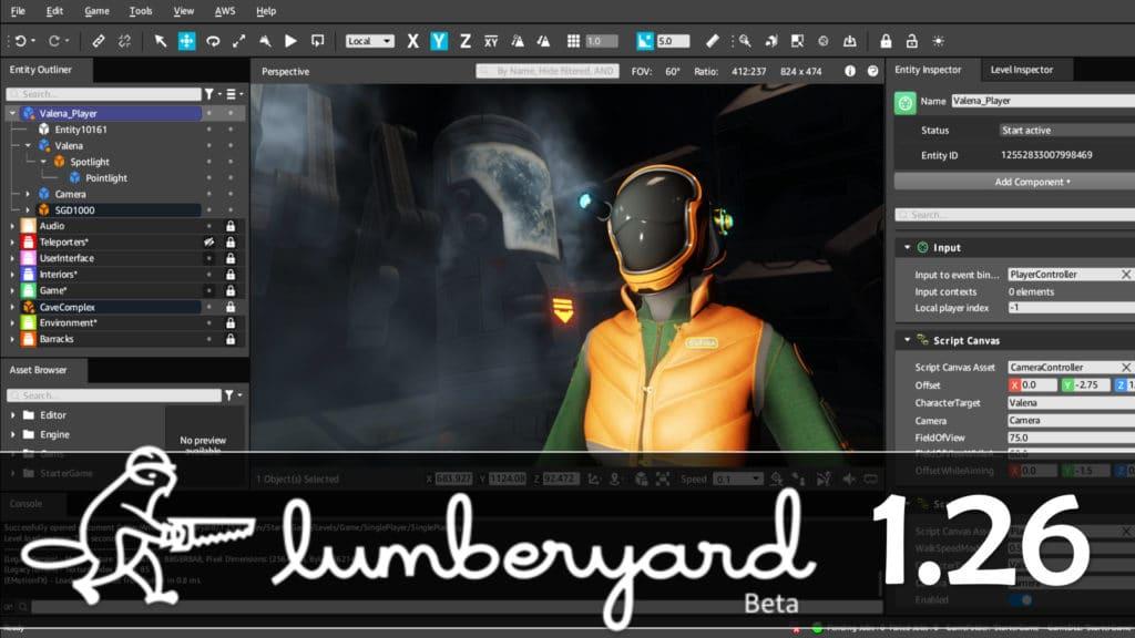 Lumberyard 1.26 Released
