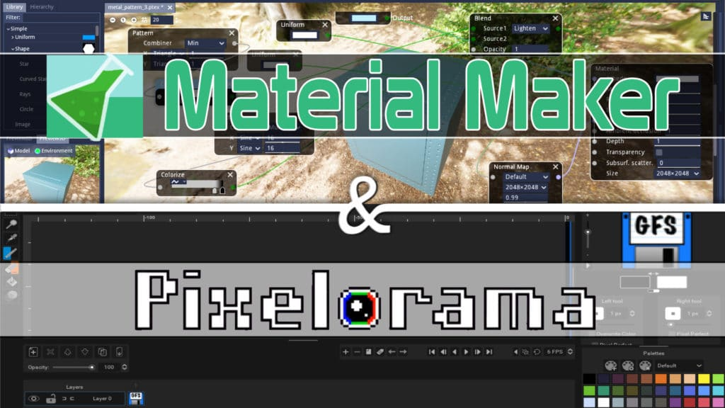 Material Maker and Pixelorama Updated