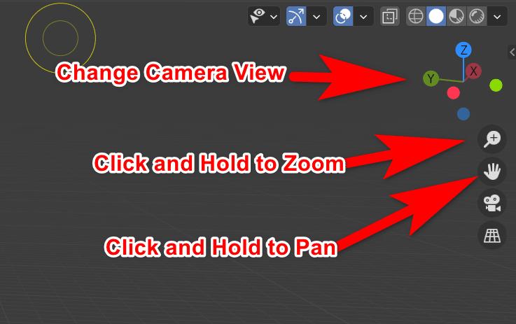 Controlling the Blender camera on screen in Blender 2.9
