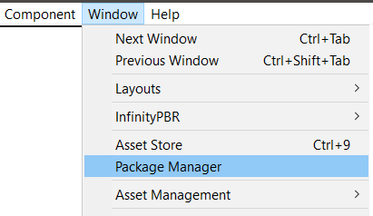 Package Manager Window