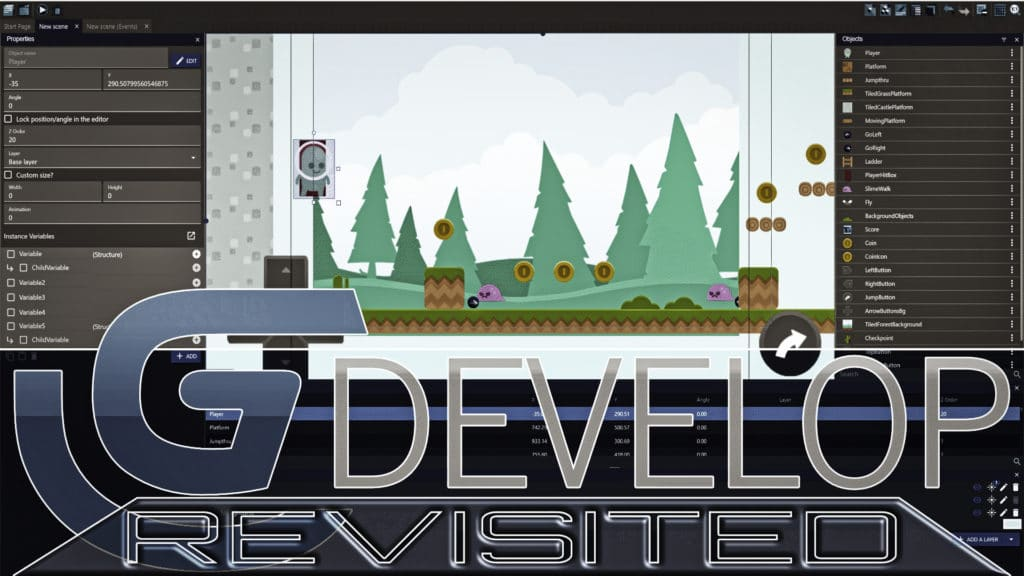 GDevelop Open Source Game Engine Update Review