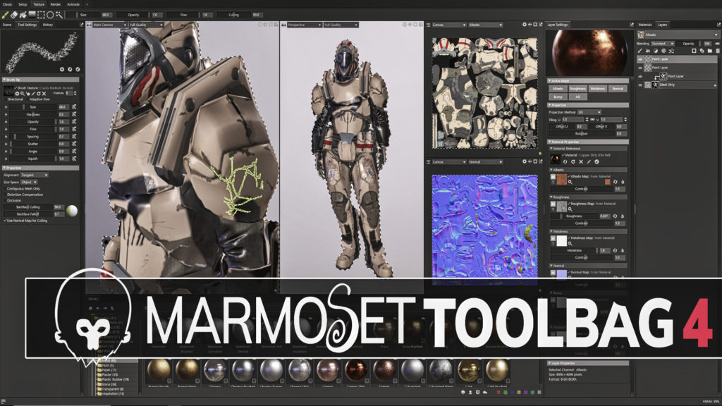 Marmoset Toolbag 4 Released with Substance Painter LIke Features