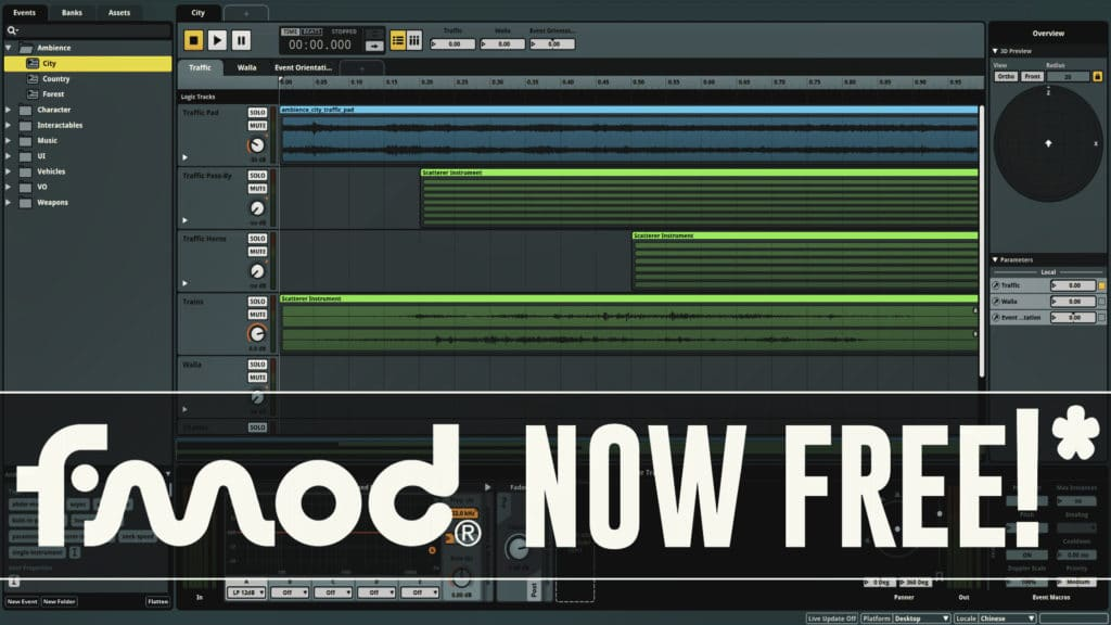FMOD Studio Now Free For Indie Game Developers