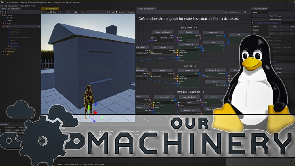 The Machinery Game Engine adds Linux and Raytracing support