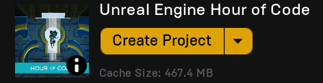 Unreal Engine Hour of Code Project Creation