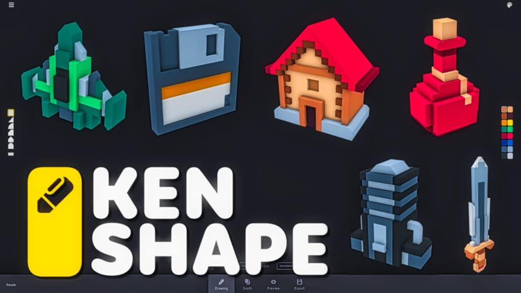 Kenshape 3D from 2D powered by Kenney.nl