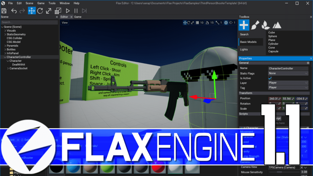 FlaxEngine Flax Engine 1.1 Released