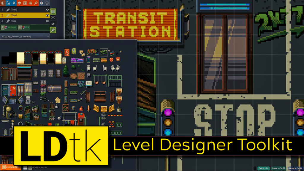 Creating Tiled Maps and Worlds using the LDtk or Level Designer Toolkit