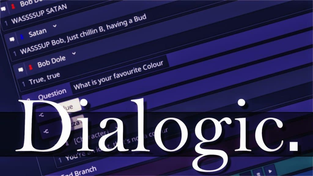 Dialogic is a new conversation addon for the Godot game engine