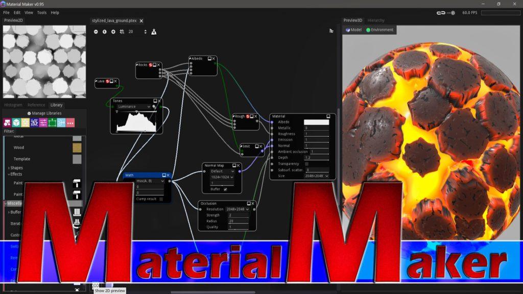 Material Maker 0.95 Open Source Substance Designer Alternative