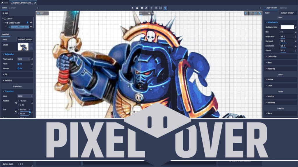 PixelOver Godot Powered Pixel Art Application