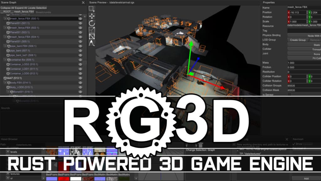 Rust Open Source 3D Game Engine RG3D Review