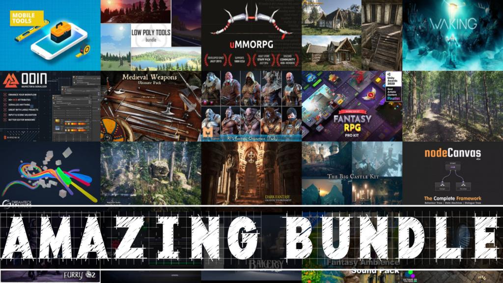 Unity Fantasy Humble Bundle GameDev Assets Godot Unreal Unity3D