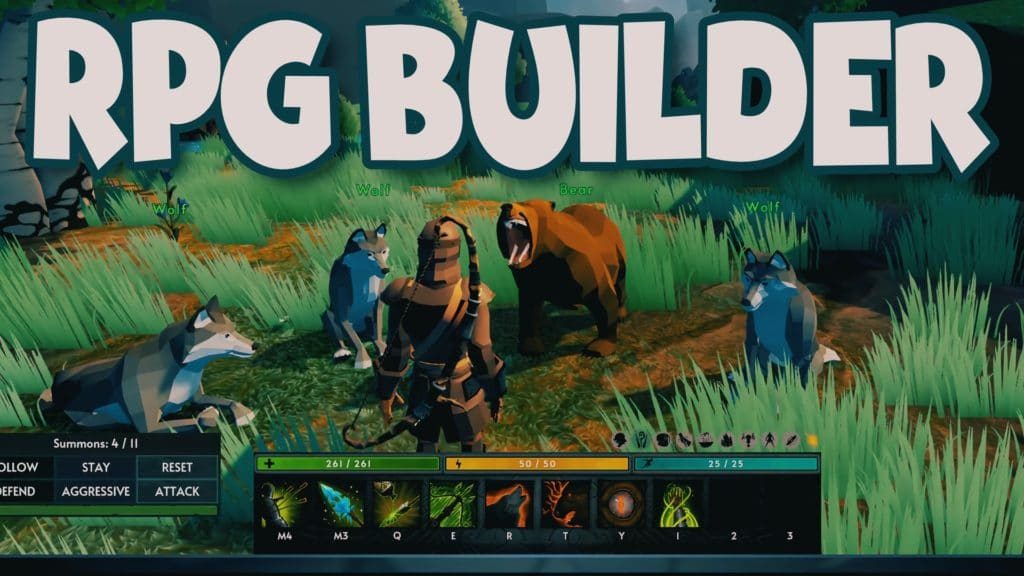 RPG Builder Roleplaying Game Creation Kit for Unity Humble Bundle Review Tutorial