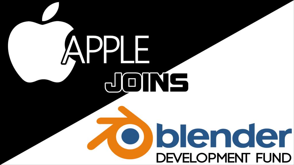 Apple Join the Blender Development Fund